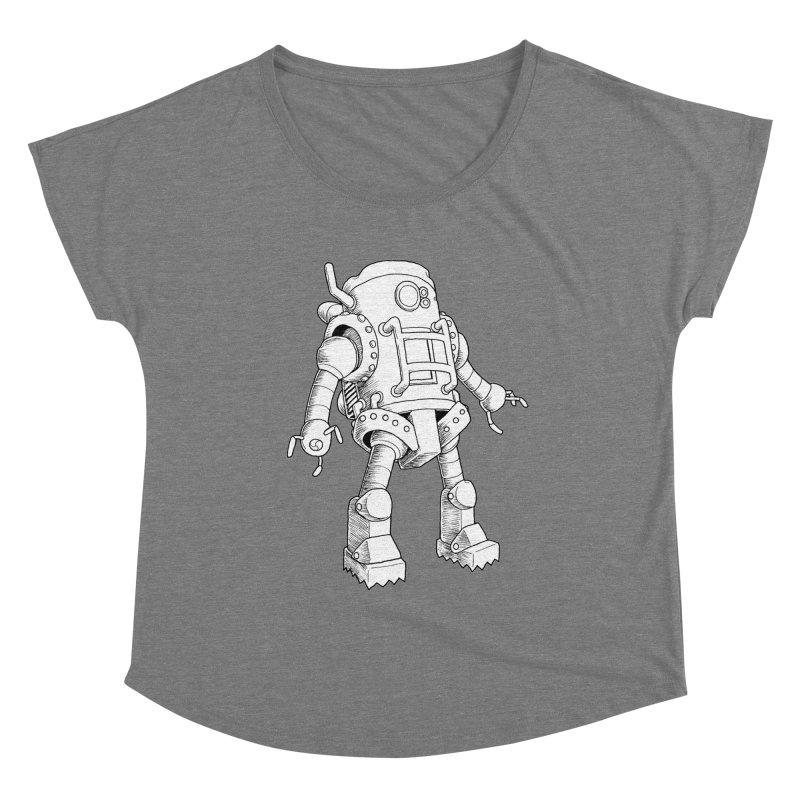 robot Women's Scoop Neck by allandotson's Artist Shop