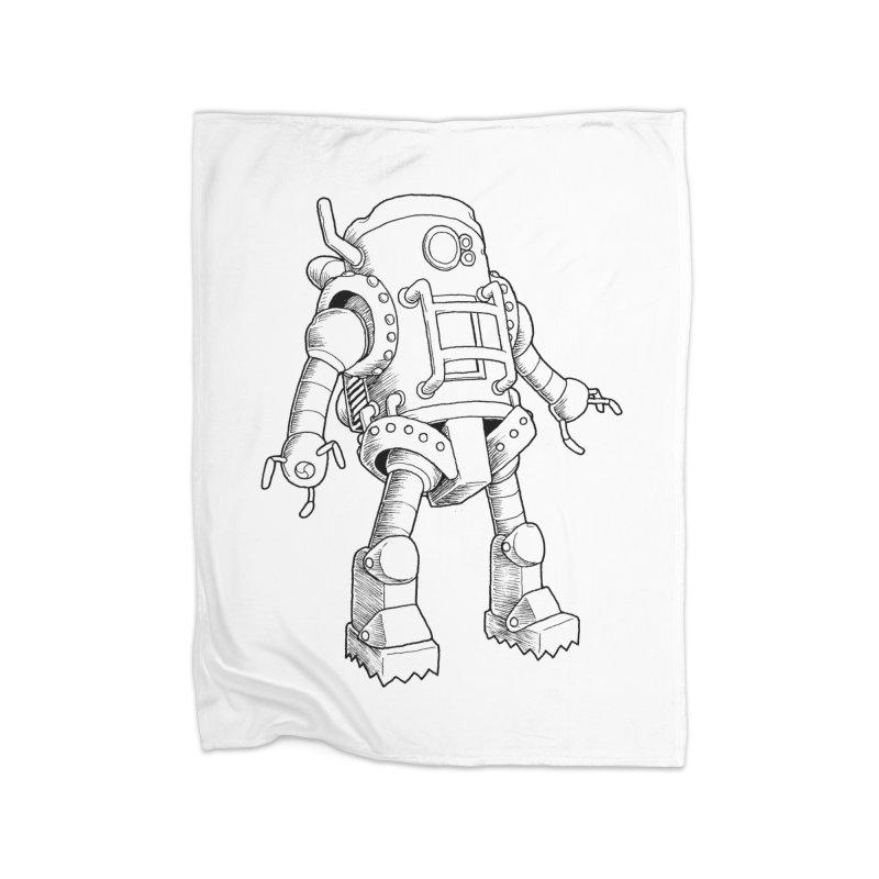 robot Home Blanket by allandotson's Artist Shop