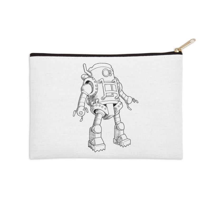 robot Accessories Zip Pouch by allandotson's Artist Shop