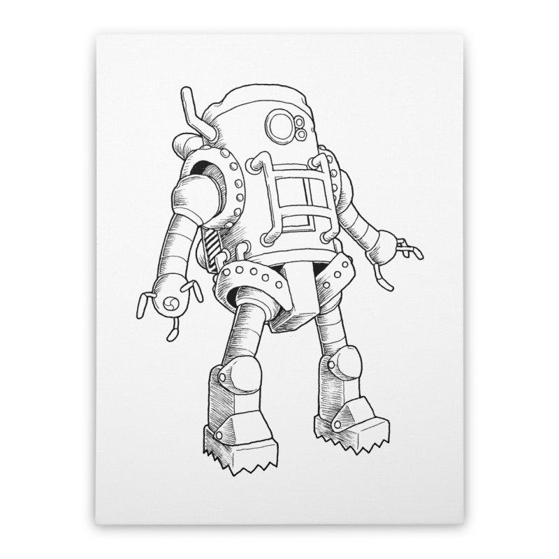 robot Home Stretched Canvas by allandotson's Artist Shop
