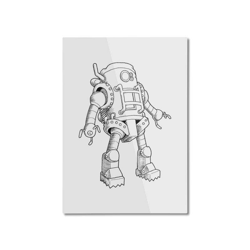 robot Home Mounted Aluminum Print by allandotson's Artist Shop