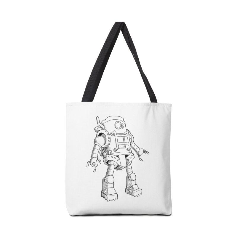 robot Accessories Bag by allandotson's Artist Shop