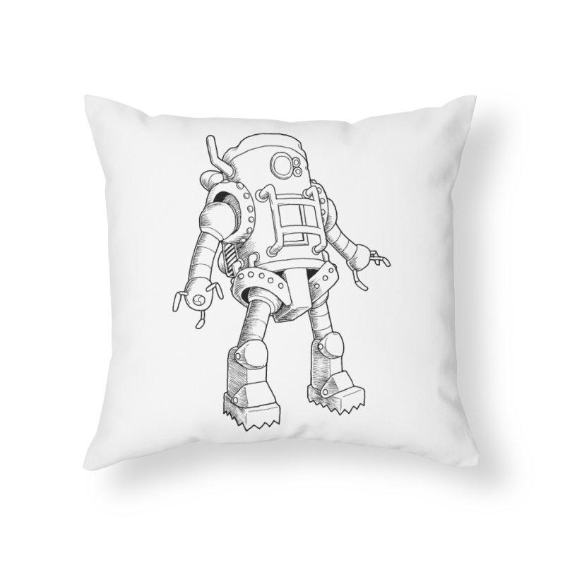 robot Home Throw Pillow by allandotson's Artist Shop