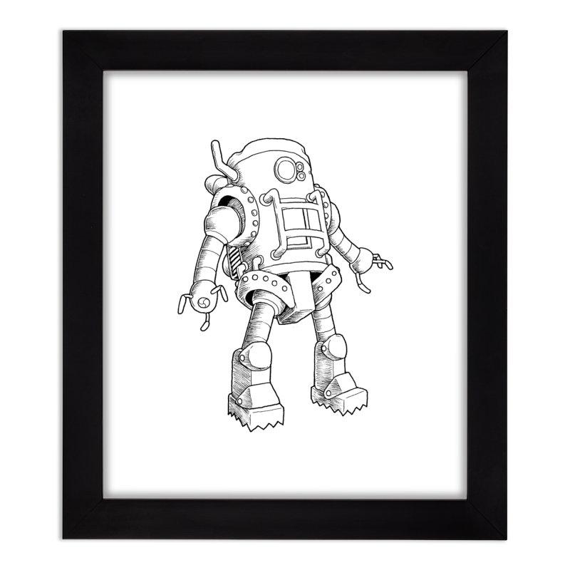 robot Home Framed Fine Art Print by allandotson's Artist Shop