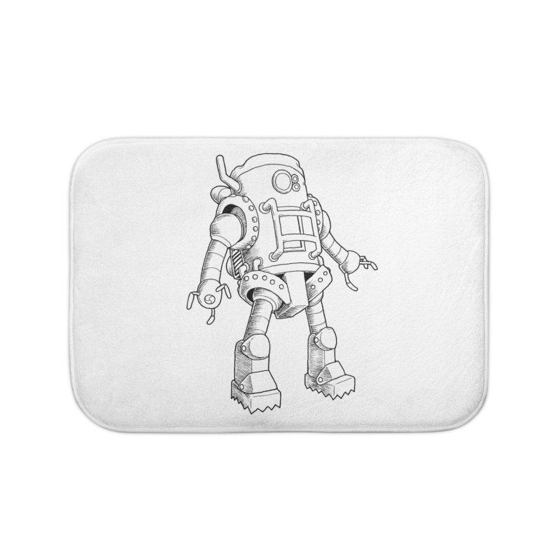 robot Home Bath Mat by allandotson's Artist Shop