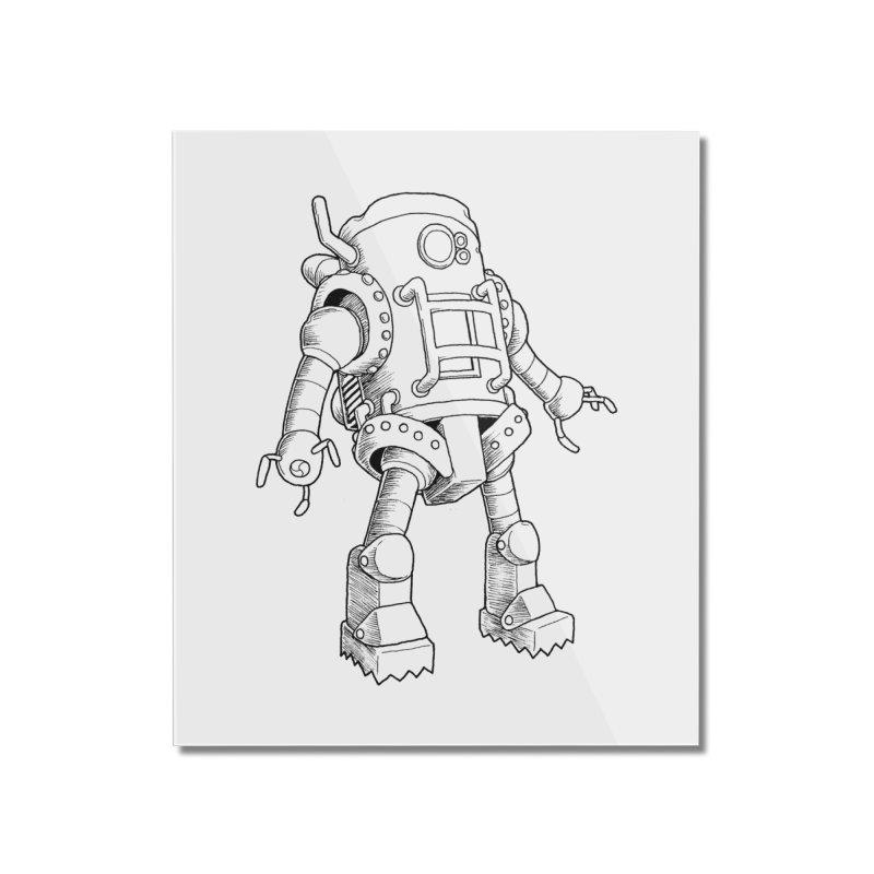 robot Home Mounted Acrylic Print by allandotson's Artist Shop