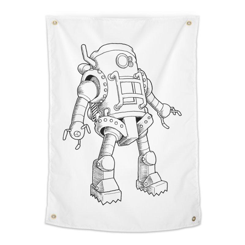 robot Home Tapestry by allandotson's Artist Shop