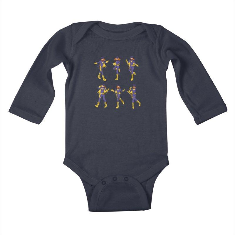 bat shuffle Kids Baby Longsleeve Bodysuit by allandotson's Artist Shop