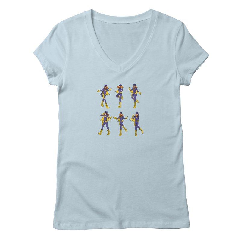 bat shuffle Women's V-Neck by allandotson's Artist Shop