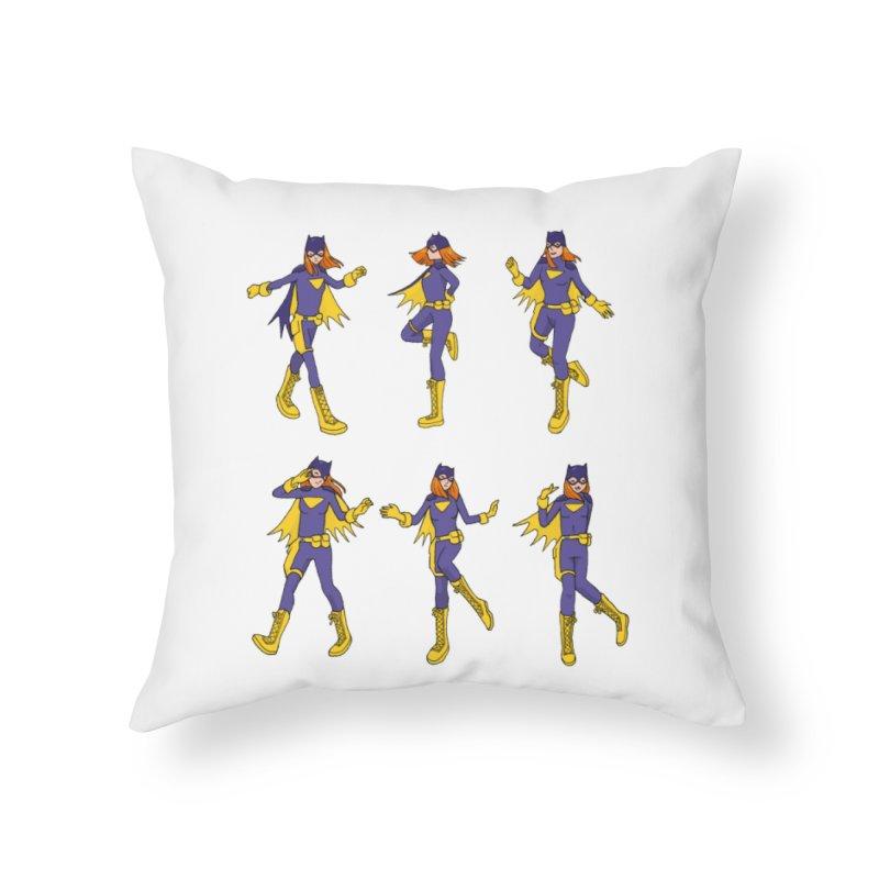 bat shuffle Home Throw Pillow by allandotson's Artist Shop