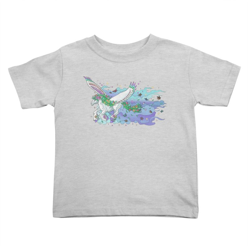 flower pony Kids Toddler T-Shirt by allandotson's Artist Shop