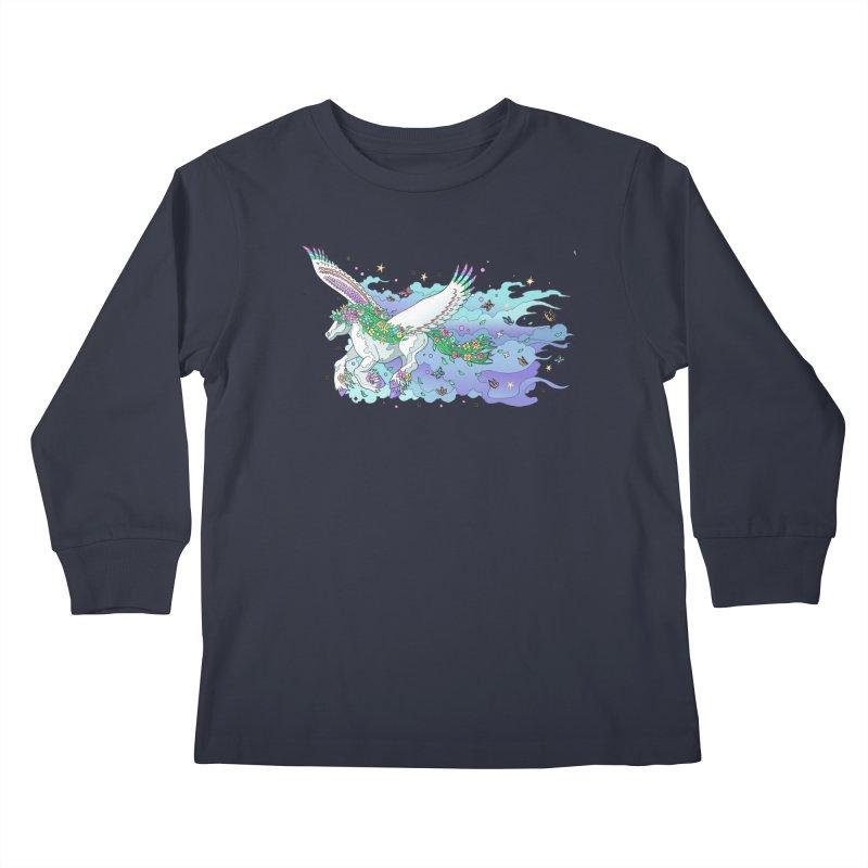 flower pony Kids Longsleeve T-Shirt by allandotson's Artist Shop