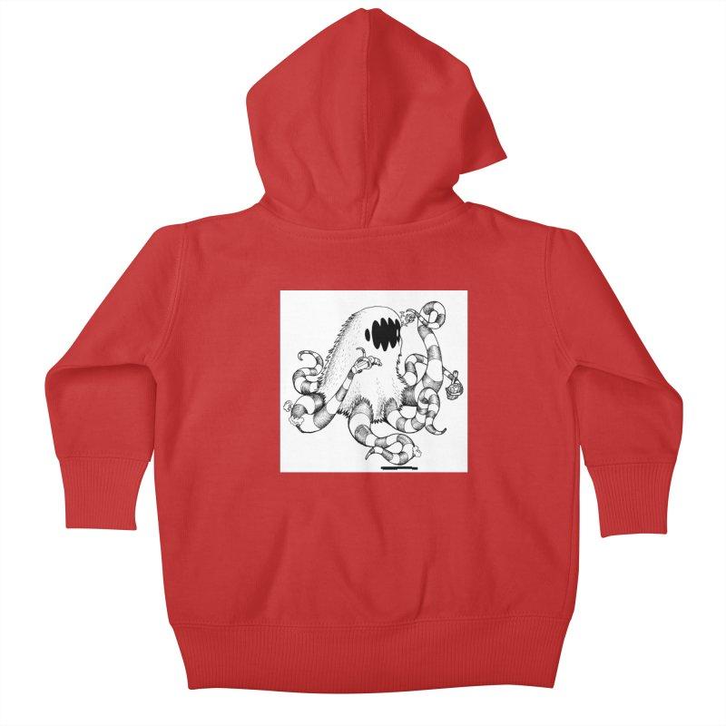 giant monster Kids Baby Zip-Up Hoody by allandotson's Artist Shop