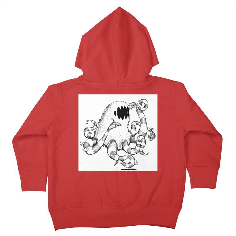 giant monster Kids Toddler Zip-Up Hoody by allandotson's Artist Shop