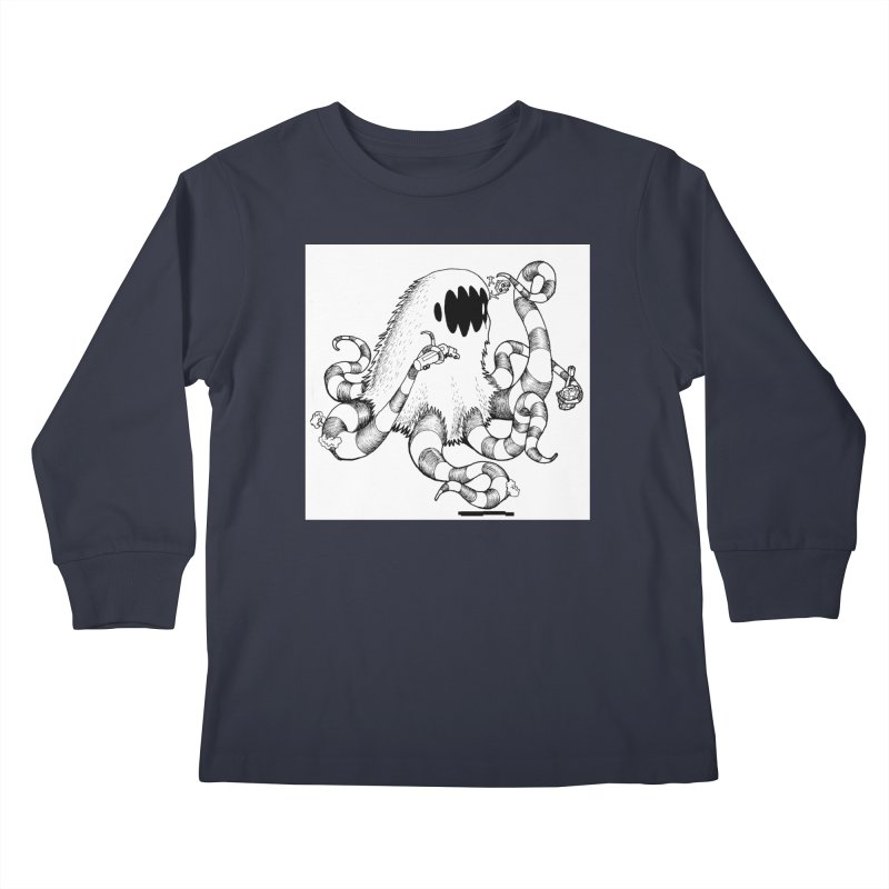 giant monster Kids Longsleeve T-Shirt by allandotson's Artist Shop