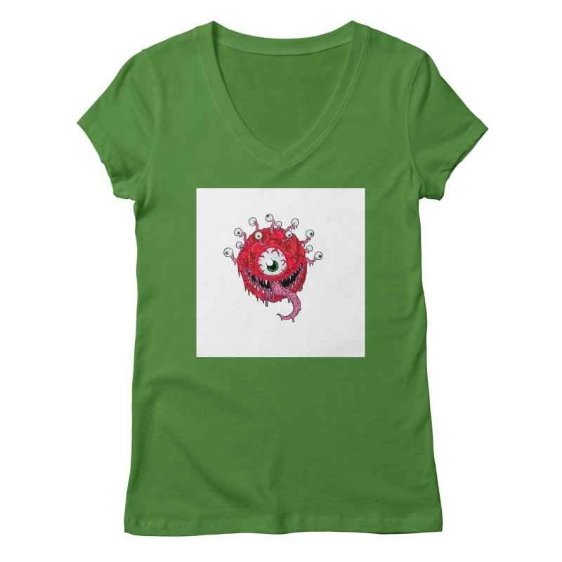 eye ball Women's V-Neck by allandotson's Artist Shop