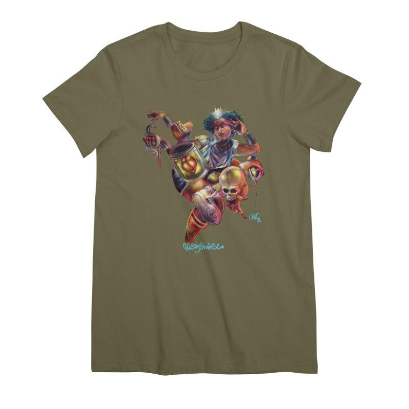 Bruja #1 Women's Premium T-Shirt by All City Emporium's Artist Shop