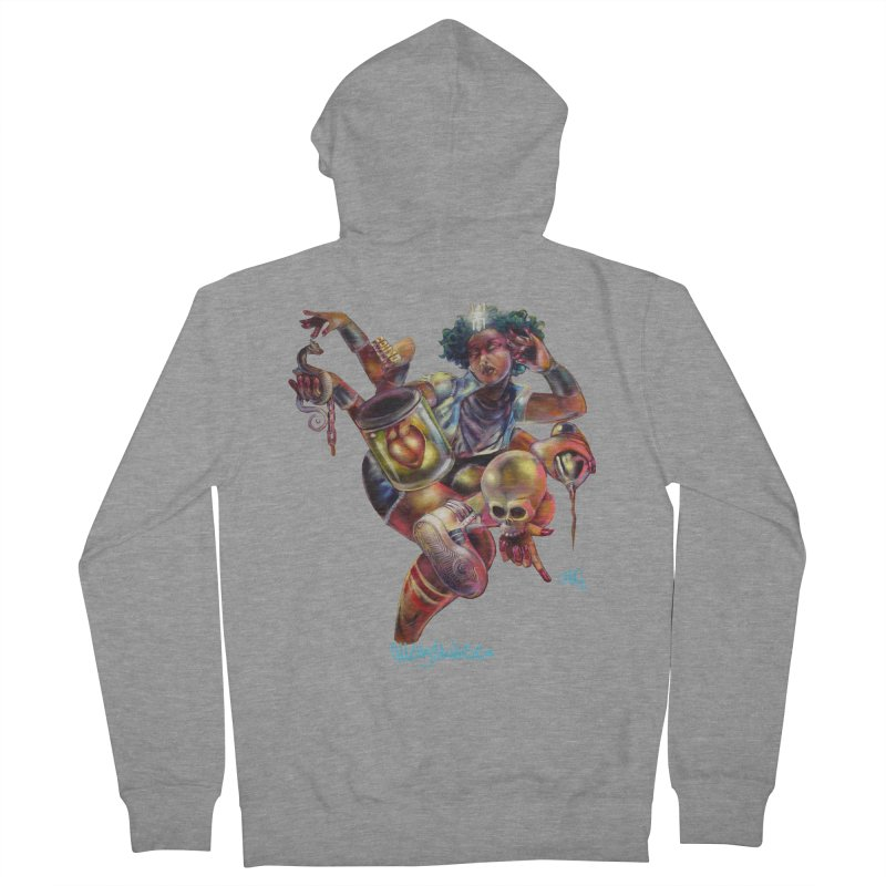 Bruja #1 Women's French Terry Zip-Up Hoody by All City Emporium's Artist Shop