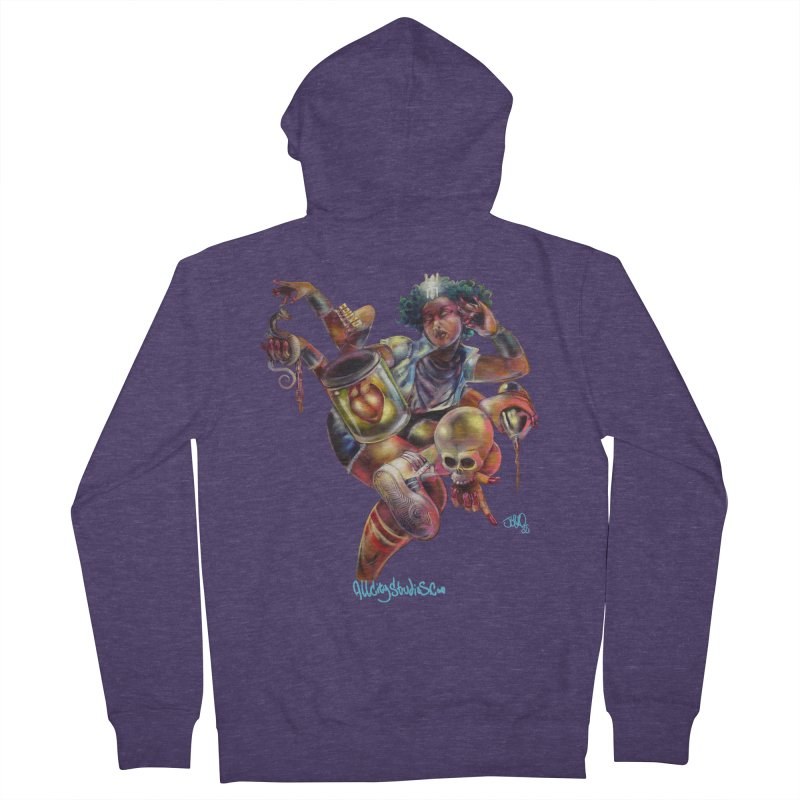 Bruja #1 Men's French Terry Zip-Up Hoody by All City Emporium's Artist Shop