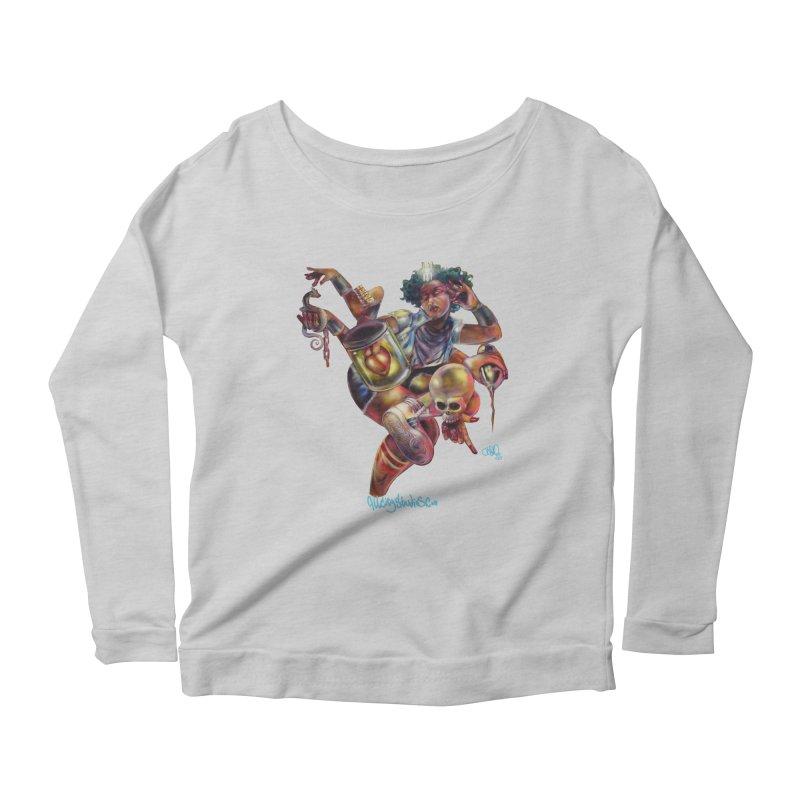 Bruja #1 Women's Scoop Neck Longsleeve T-Shirt by All City Emporium's Artist Shop