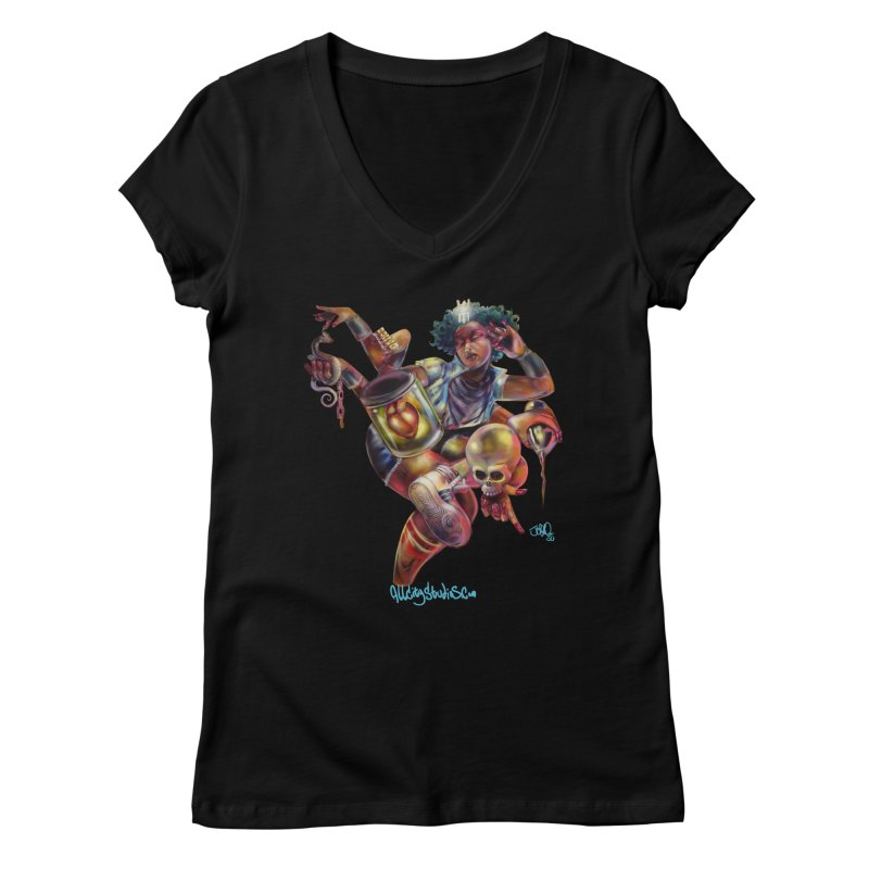 Bruja #1 Women's V-Neck by All City Emporium's Artist Shop