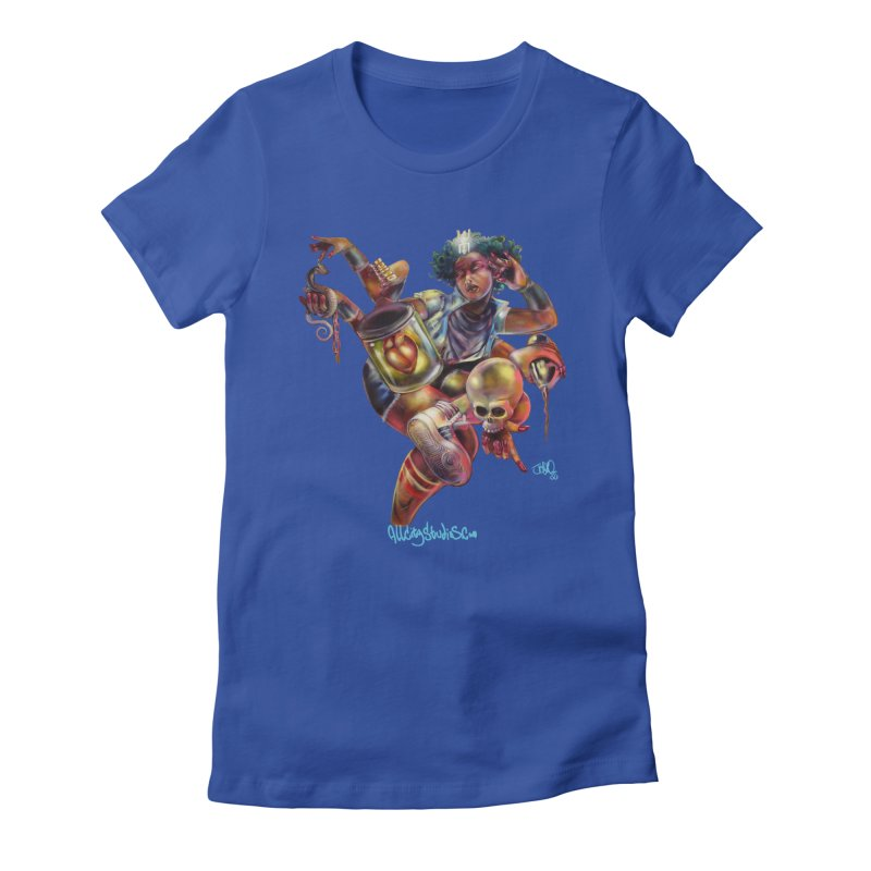 Bruja #1 Women's Fitted T-Shirt by All City Emporium's Artist Shop