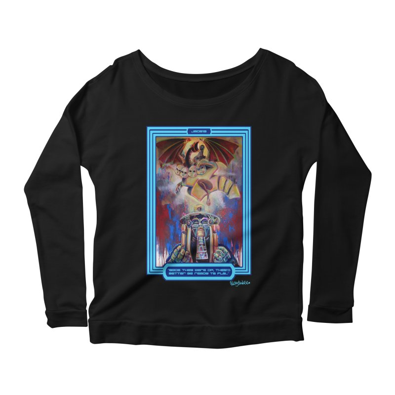"""""""Once they were up...."""" Women's Scoop Neck Longsleeve T-Shirt by All City Emporium's Artist Shop"""