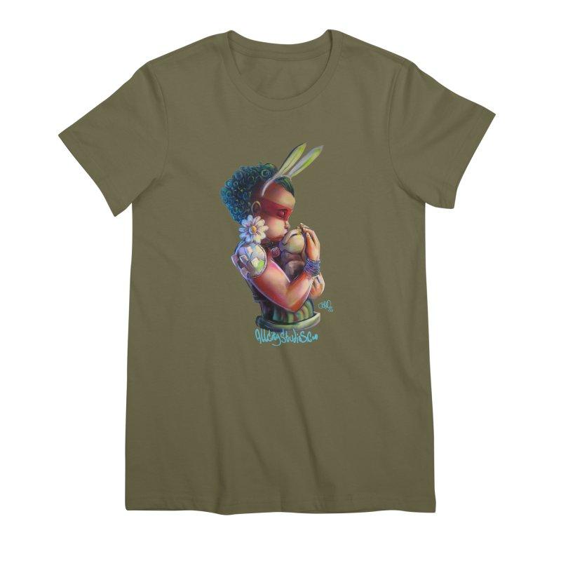 Hunneh Bunneh 3 Women's Premium T-Shirt by All City Emporium's Artist Shop