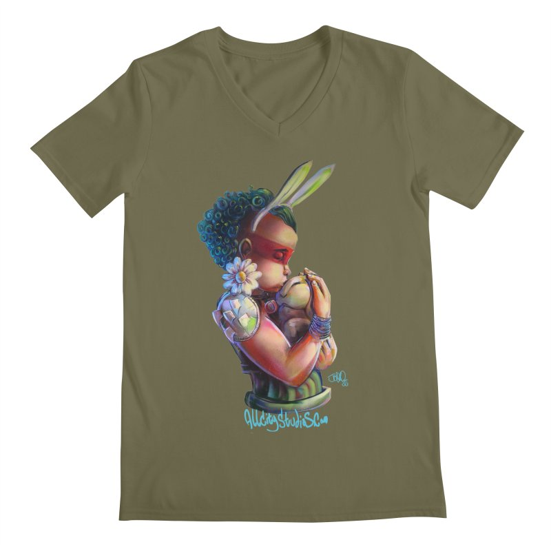 Hunneh Bunneh 3 Men's Regular V-Neck by All City Emporium's Artist Shop