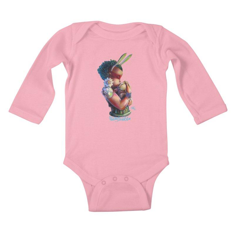 Hunneh Bunneh 3 Kids Baby Longsleeve Bodysuit by All City Emporium's Artist Shop