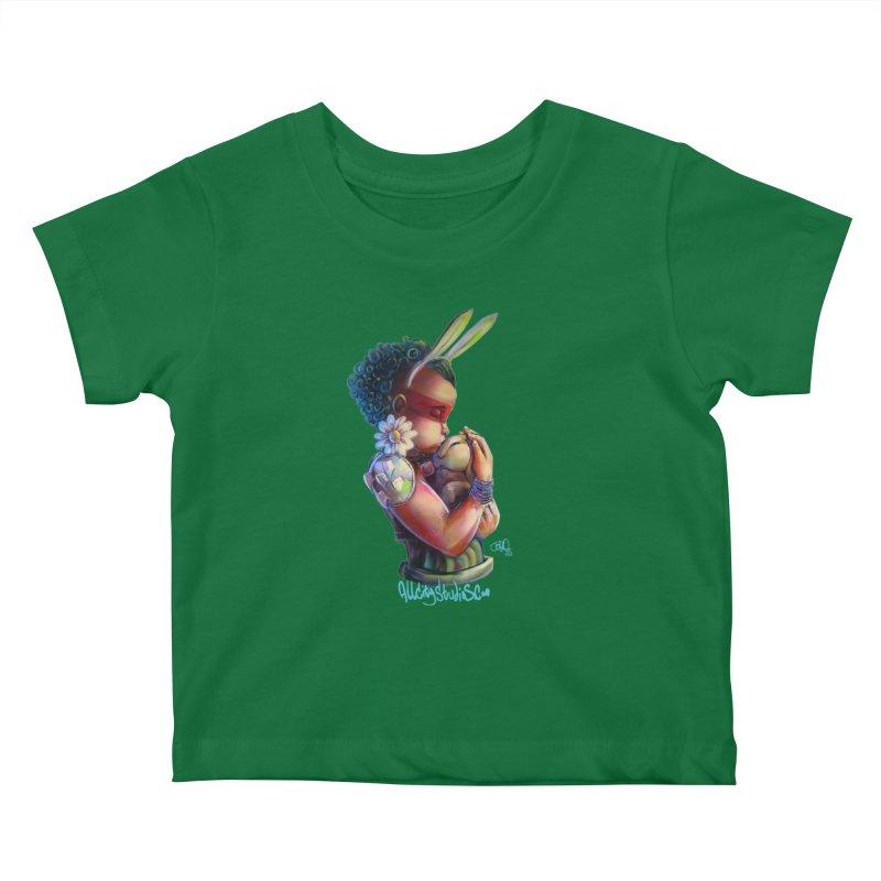Hunneh Bunneh 3 Kids Baby T-Shirt by All City Emporium's Artist Shop