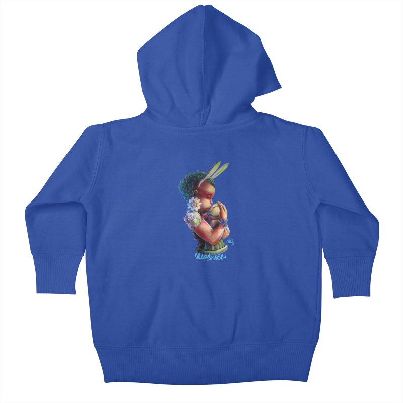 Hunneh Bunneh 3 Kids Baby Zip-Up Hoody by All City Emporium's Artist Shop