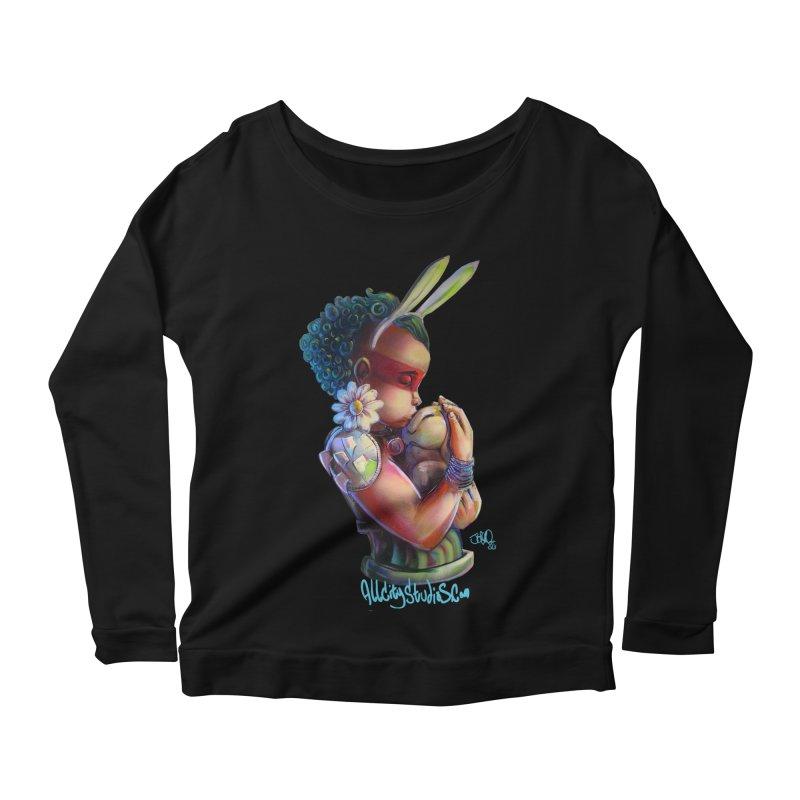 Hunneh Bunneh 3 Women's Scoop Neck Longsleeve T-Shirt by All City Emporium's Artist Shop