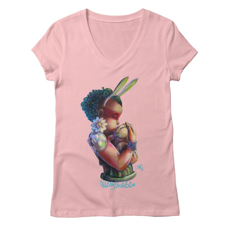 Hunneh Bunneh 3 Women's Regular V-Neck by All City Emporium's Artist Shop