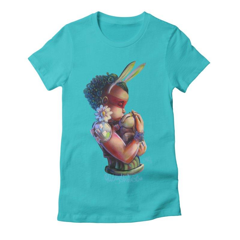 Hunneh Bunneh 3 Women's Fitted T-Shirt by All City Emporium's Artist Shop