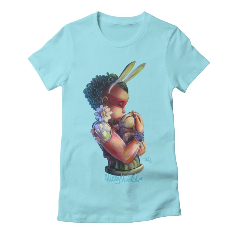 Hunneh Bunneh 3 Women's Fitted T-Shirt by All City Emporium's Artist Shop