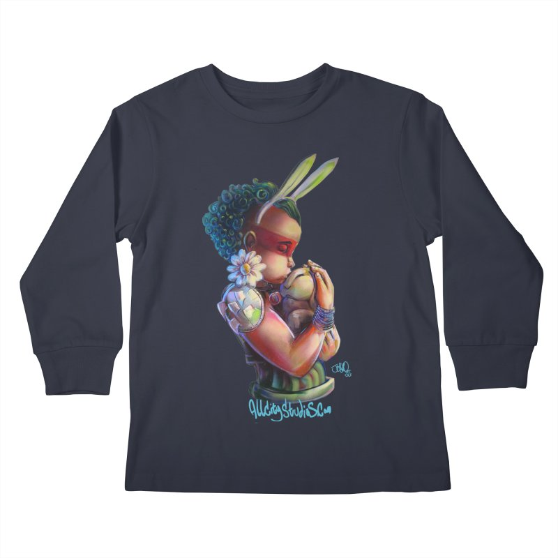 Hunneh Bunneh 3 Kids Longsleeve T-Shirt by All City Emporium's Artist Shop