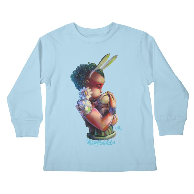 Hunneh Bunneh 3 Kids Longsleeve T-Shirt by All City Emporium's Artist Shop