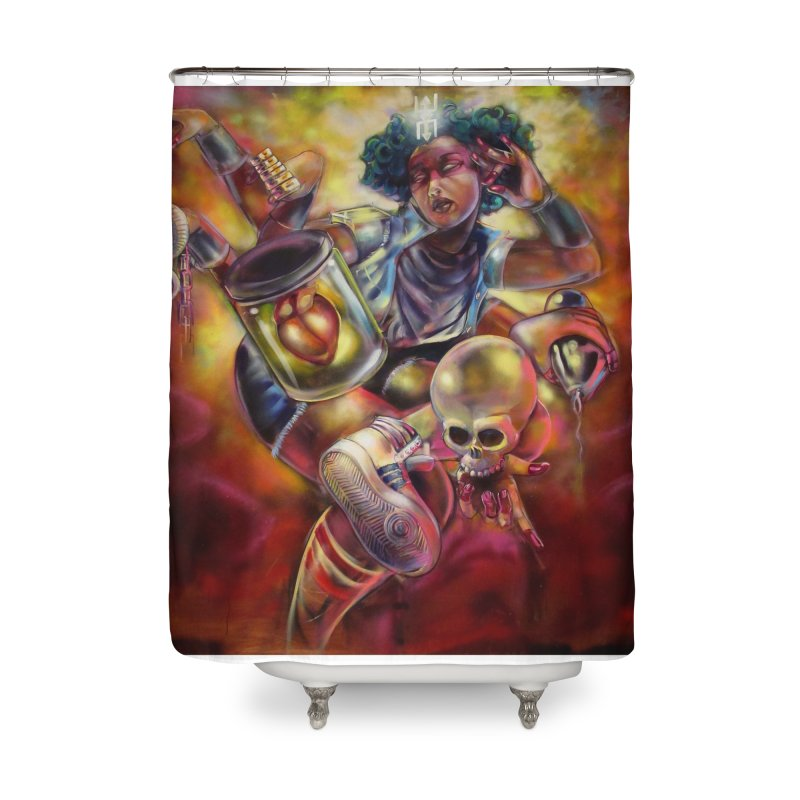 Bruja 1 whole Home Shower Curtain by All City Emporium's Artist Shop
