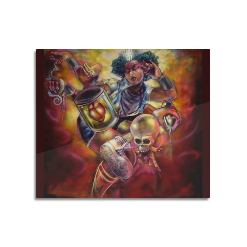 Bruja 1 whole Home Mounted Aluminum Print by All City Emporium's Artist Shop