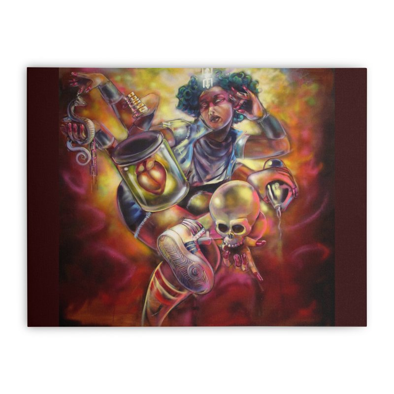 Bruja 1 whole Home Stretched Canvas by All City Emporium's Artist Shop