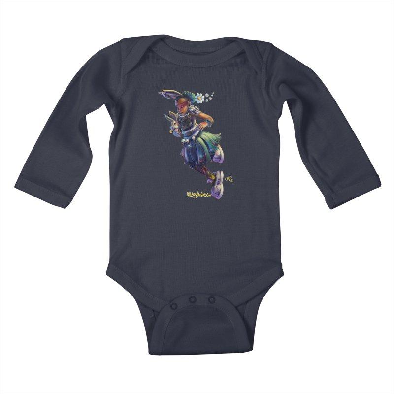 Hunneh Bunneh #4 Kids Baby Longsleeve Bodysuit by All City Emporium's Artist Shop