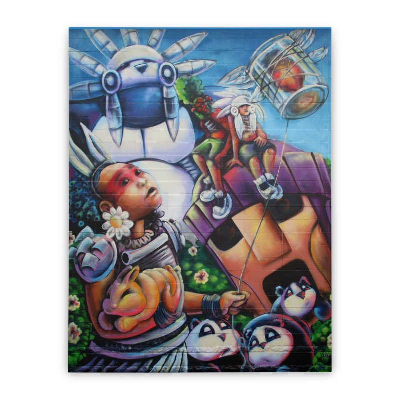 Bunneh an'em Home Stretched Canvas by All City Emporium's Artist Shop