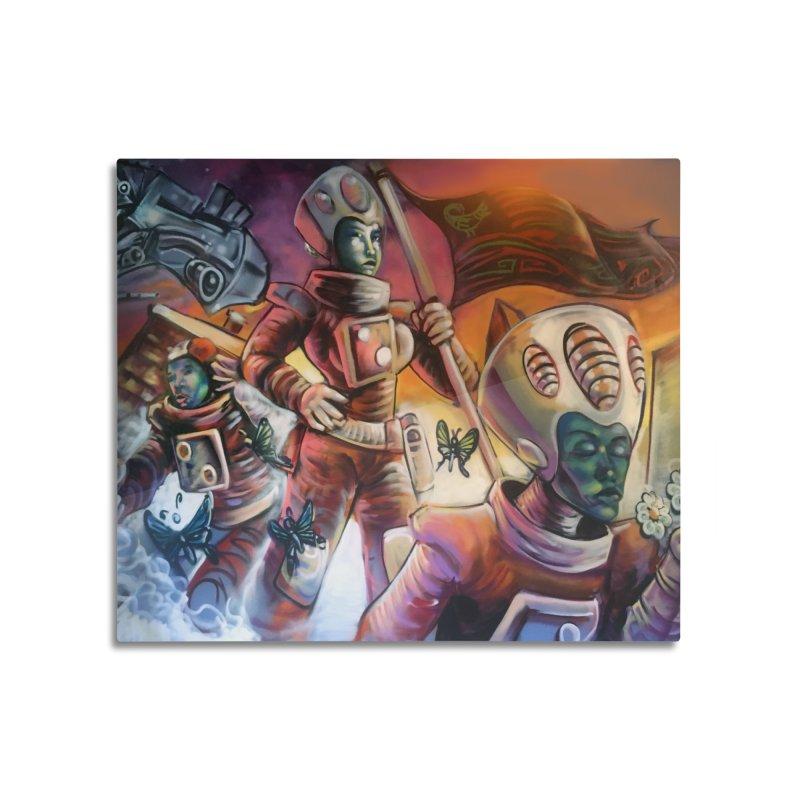 Space Program Home Mounted Aluminum Print by All City Emporium's Artist Shop