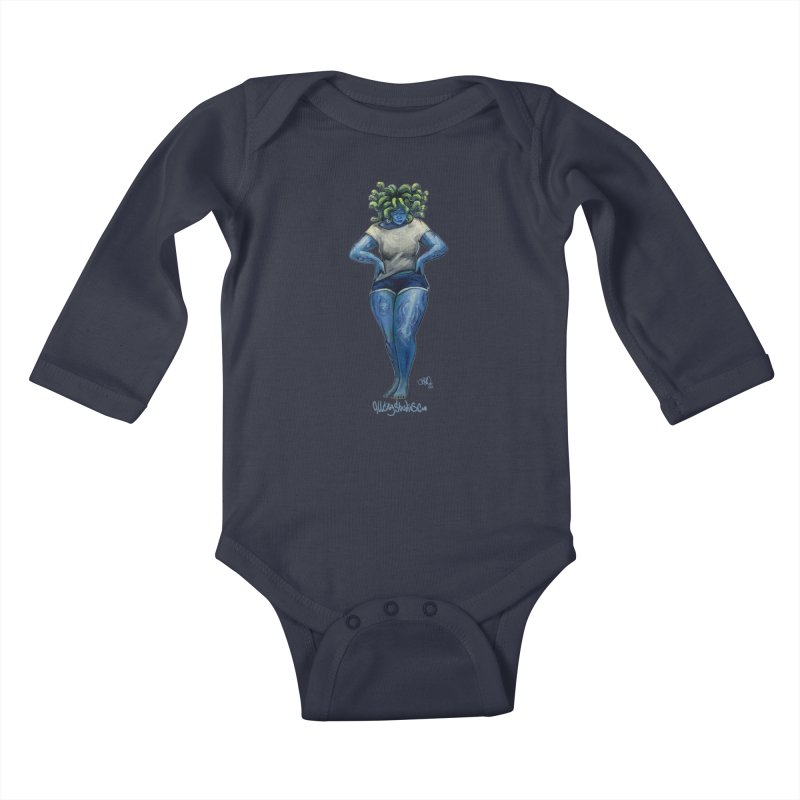 Dusa Kids Baby Longsleeve Bodysuit by All City Emporium's Artist Shop