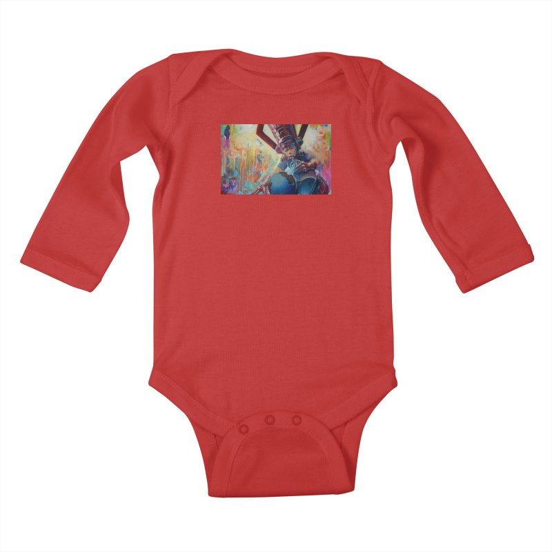 Playing with my food (whole) Kids Baby Longsleeve Bodysuit by All City Emporium's Artist Shop