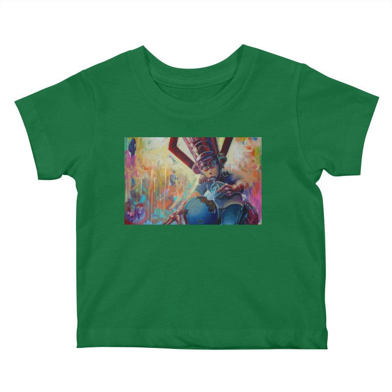 Playing with my food (whole) Kids Baby T-Shirt by All City Emporium's Artist Shop
