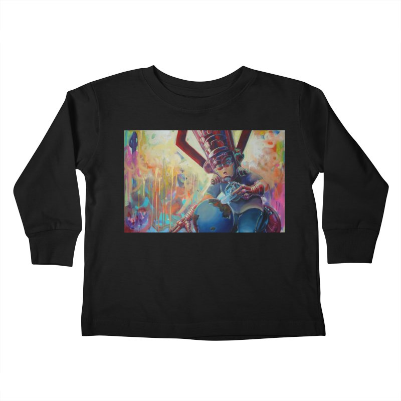 Playing with my food (whole) Kids Toddler Longsleeve T-Shirt by All City Emporium's Artist Shop