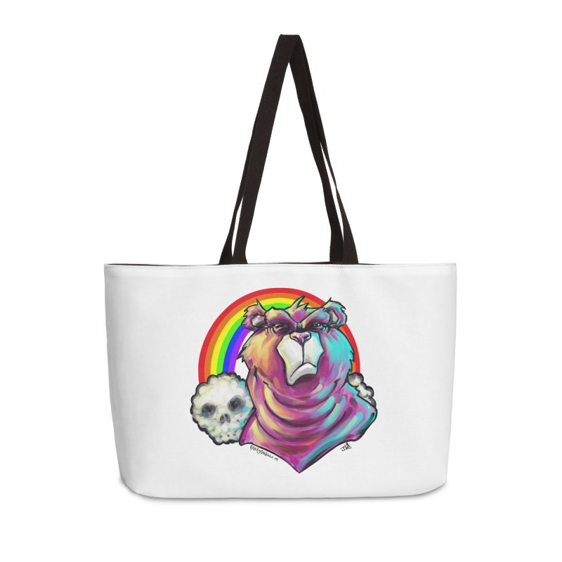 we care a lot Accessories Weekender Bag Bag by All City Emporium's Artist Shop