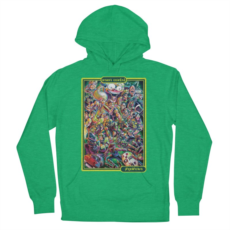 insert coin(s) Women's French Terry Pullover Hoody by All City Emporium's Artist Shop